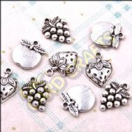 Fruit Mix Metal Charms & Spacers - HHCS17